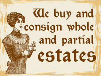 We buy and consign whole and partial estates